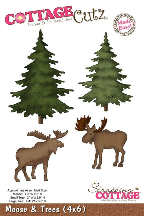Cottage Cutz Die - Moose