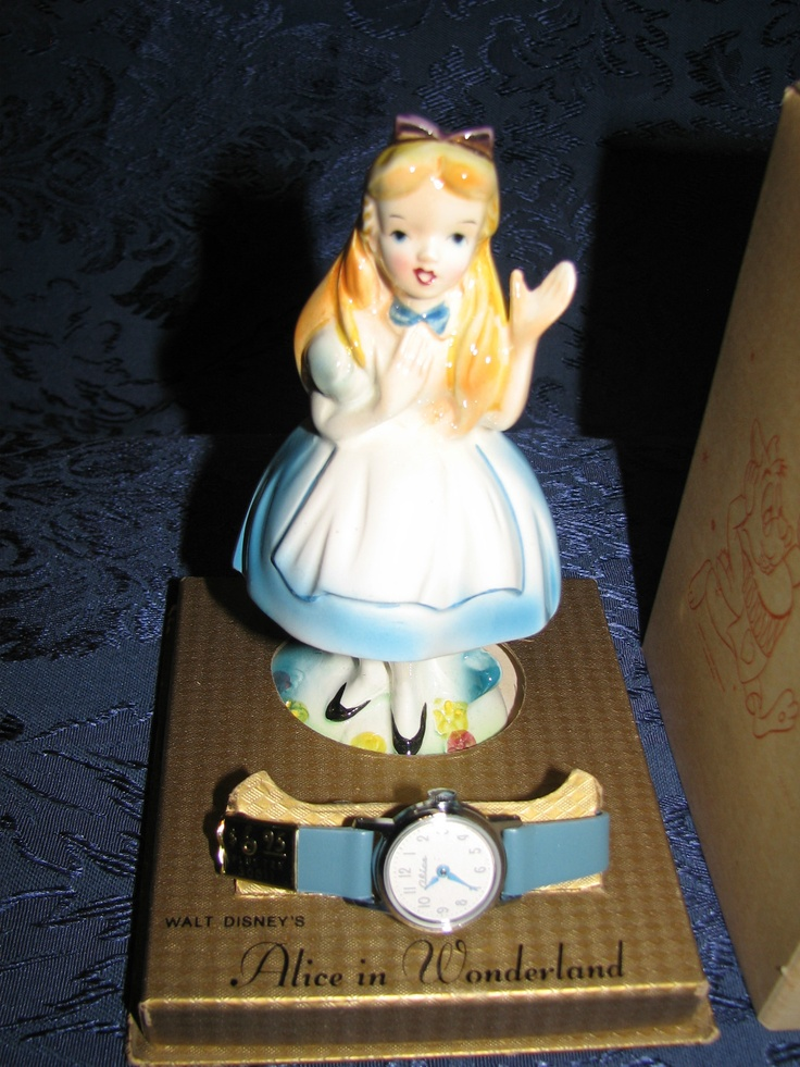 Alice in Wonderland statue and watch...This was my first ...