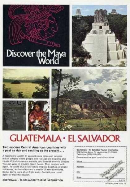Discover the Maya World Guatemala El Salvador (1973)