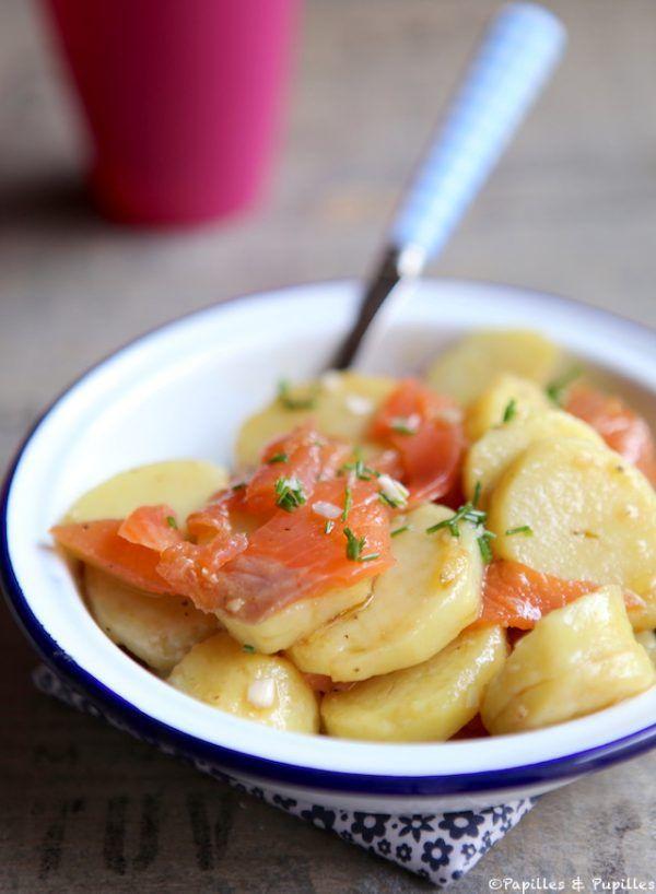 Salade de pommes de terre truite ciboulette