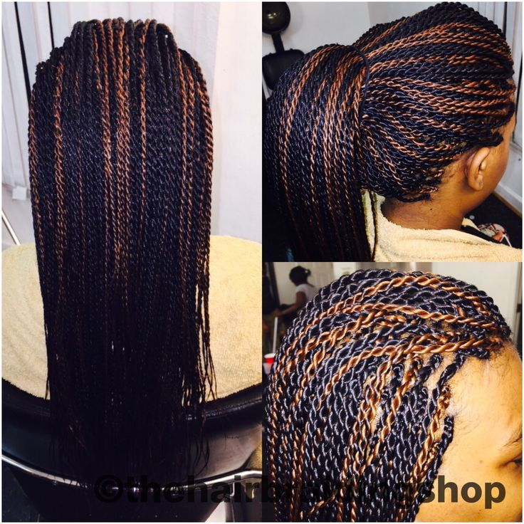 Braids Senegalese Twists With Colors The Hair
