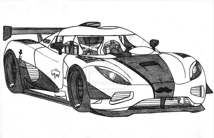 Koenigsegg Agera R Drawing | car coloring pages in 2019