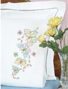 Pillowcases - Embroidery Patterns & Kits - 123Stitch.com