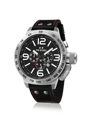 TW Steel Men's TW78R Canteen Black Leather Watch