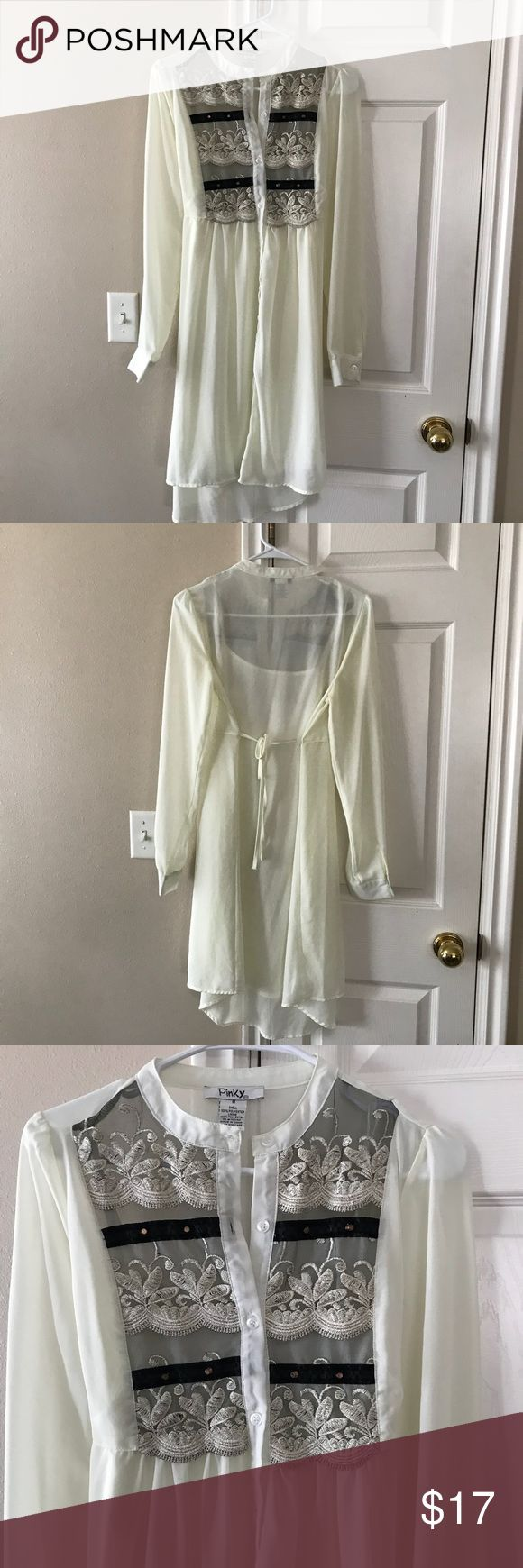 Never worn cream lace dress Never worn cream lace dress. Goes past the knees and is flowly and comfortable. Coming from a smoke free, pet free home. Bundle and save. Make me an offer! Pinky Dresses