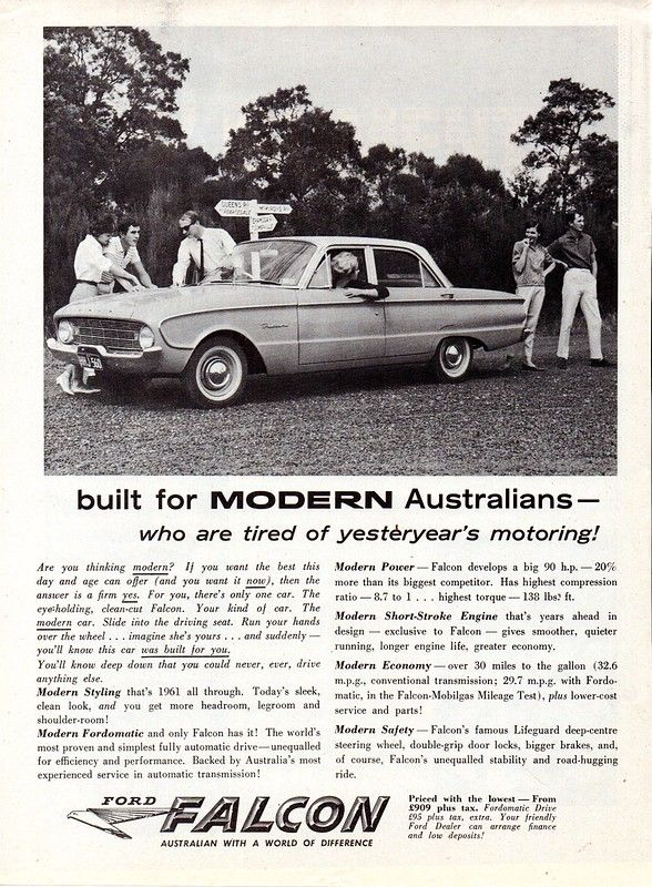 1961 Xk Ford Falcon Sedan Aussie Original Magazine Advertisement Ford Falcon Australian Cars Vintage Muscle Cars
