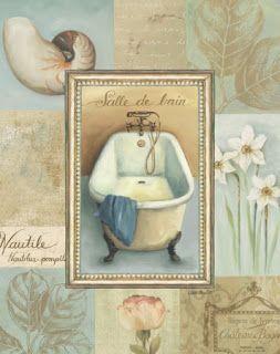Bathroom Printables - Laminas decoupage: BAÑO