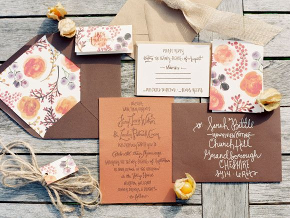 Autumn wedding ideas ~ Rebecca Lindon Photography   Lovely Paper Things stationery