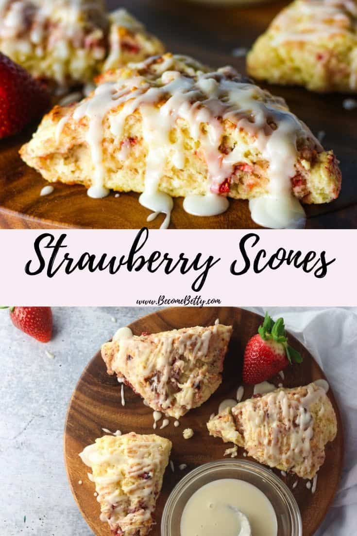 This Buttermilk Strawberry Scone Recipe Is Quick Easy And Ready In Under 30 Minutes It Freezes Well Strawberry Scones Scone Recipe Strawberry Scone Recipe