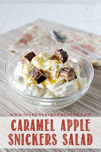 Caramel Apple Snickers Salad by lovebakesgoodcakes, via Flickr
