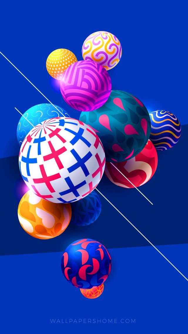 Abstract Balls Colorful Modern 4k 5k 8k Vertical My