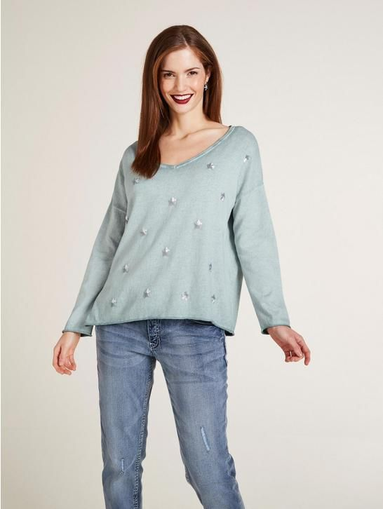 fdd2e495aa75 Pullover mit Pailetten in 2018   W38-2018-Bekleidung   Pinterest   Fashion,  Casual and Mint