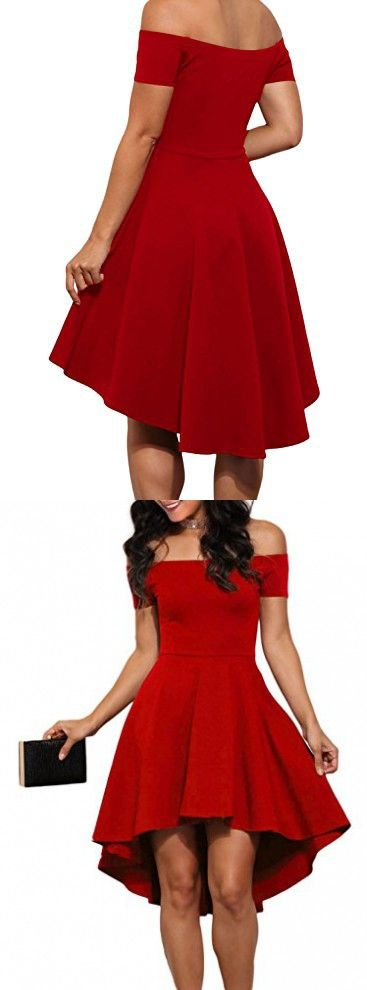 LOSRLY Womens Off Shoulder Semi Formal Short Evening Dress New Year PRIME Red L 12 14