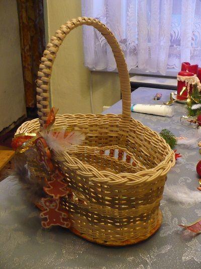 Košík z pedigu s keramickými perníčky