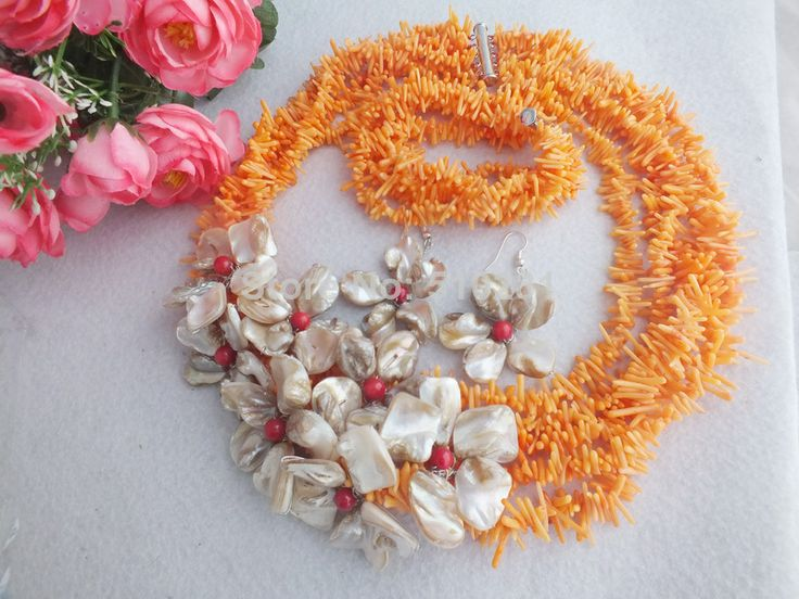 free shipping! Z-1144 Fashion Wondeful Orange Branch Coral Beads ,Coral Jewelry Set Fit African Wedding Bridal $49.33