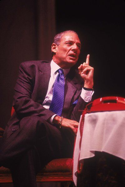 "Ron Leibman portrayed historical figure Roy Cohn in ""Angels in America."""