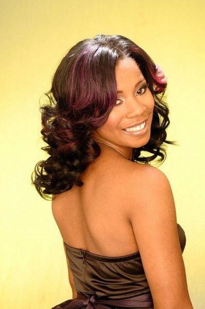 Hairstyle With Highlights For African American Women