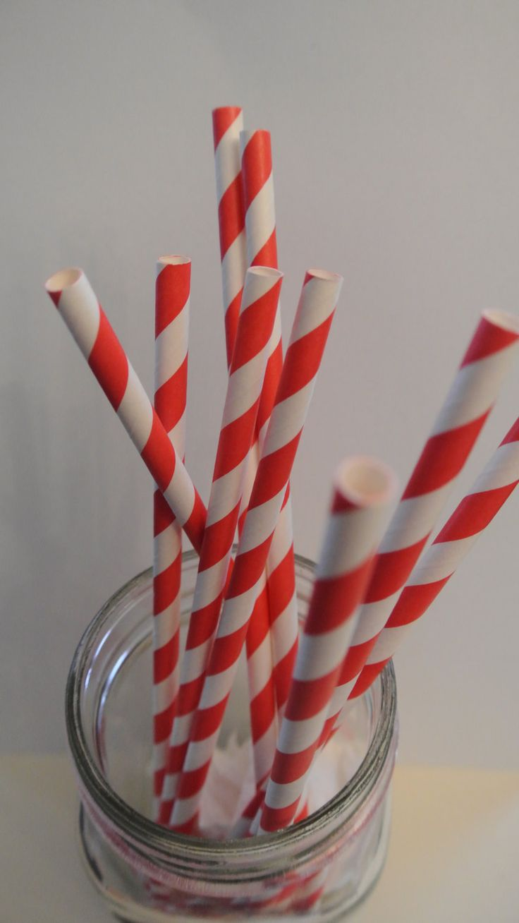 Red Straws. 20CT. By Paper Rabbit. Ready to ship in 1-3 days by PaperRabbit87 on Etsy