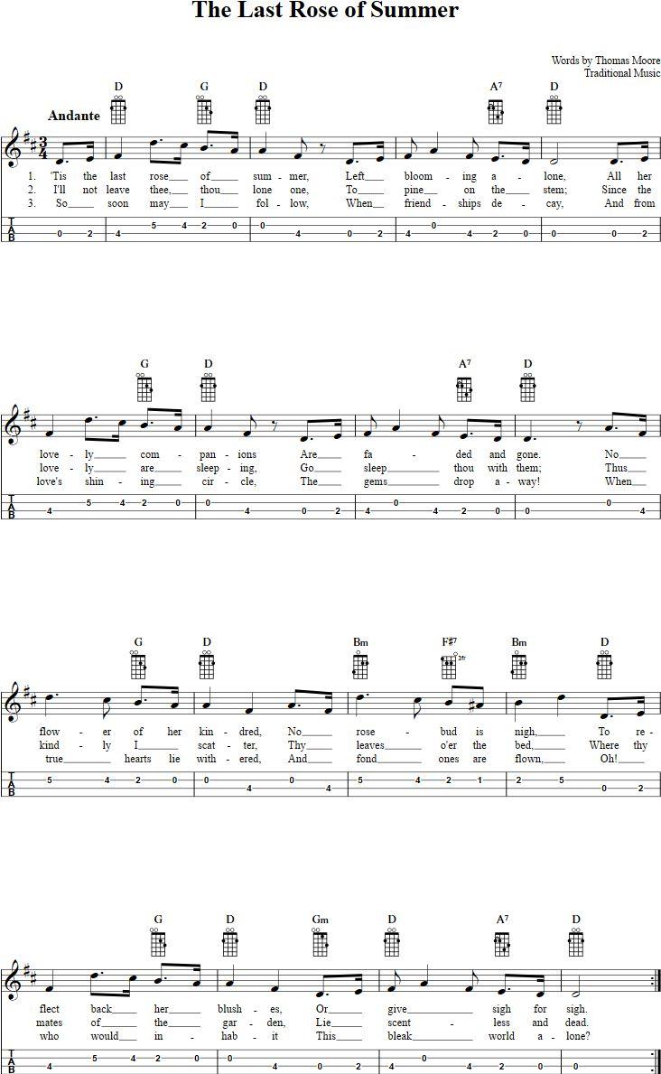 302 best mandolin mike images on pinterest lyric poetry music the last rose of summer mandolin tab hexwebz Images