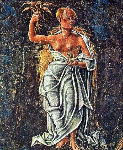 Virgem ou Virgo é o sexto signo astrológico do zodíaco, situado entre Leão e Libra e associado à constelação de Virgo. Seu símbolo é uma virgem. Forma com Touro e Capricórnio a triplicidade dos signos da Terra. Com pequenas variações nas datas dependendo do ano, os virginianos são as pessoas nascidas entre 23 de agosto e 22 de setembro.  Salão dos meses do Palácio Schifanoia em Ferrara, Itália.