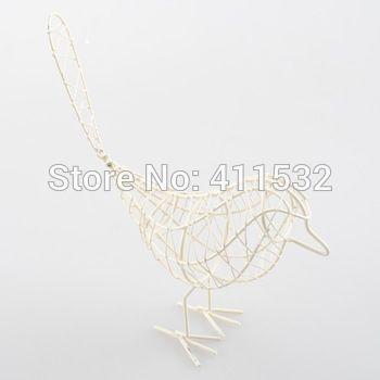 boodschappen pastorale stijl smeedijzeren vogel ornamenten wit minimalistische cr16705 metalen geschenken en ambachten