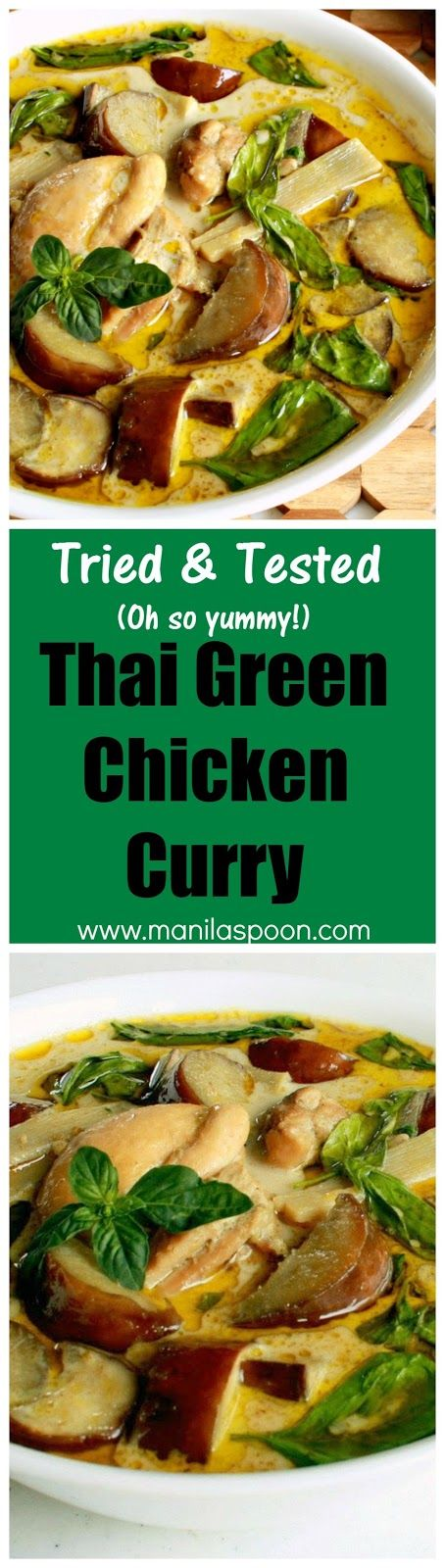 When you crave a delicious curry this one is sure to please - sweet, salty, spicy and creamy - Thai Green Chicken Curry - oh so yummy!