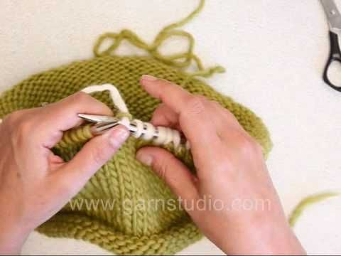 How to invisibly weave in ends AS you knit!