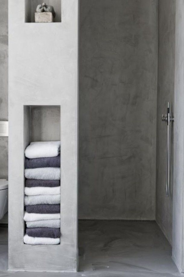 best 25+ cement bathroom ideas on pinterest | concrete bathroom, Badkamer