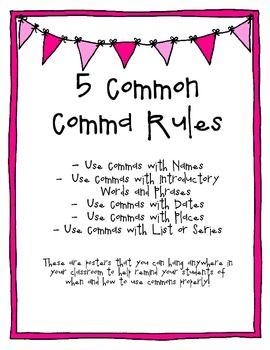 17 Best images about commas on Pinterest | The rules, Compound ...