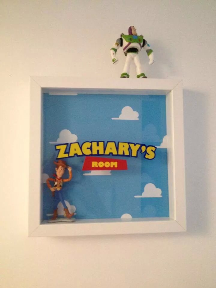 I found someone that made this on eBay. Makes a perfect finishing touch to any Toy Story Bedroom.
