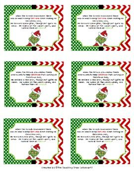"Attach these ""Grinchy"" tags to your green or striped candy canes to make them even more festive this holiday season!"