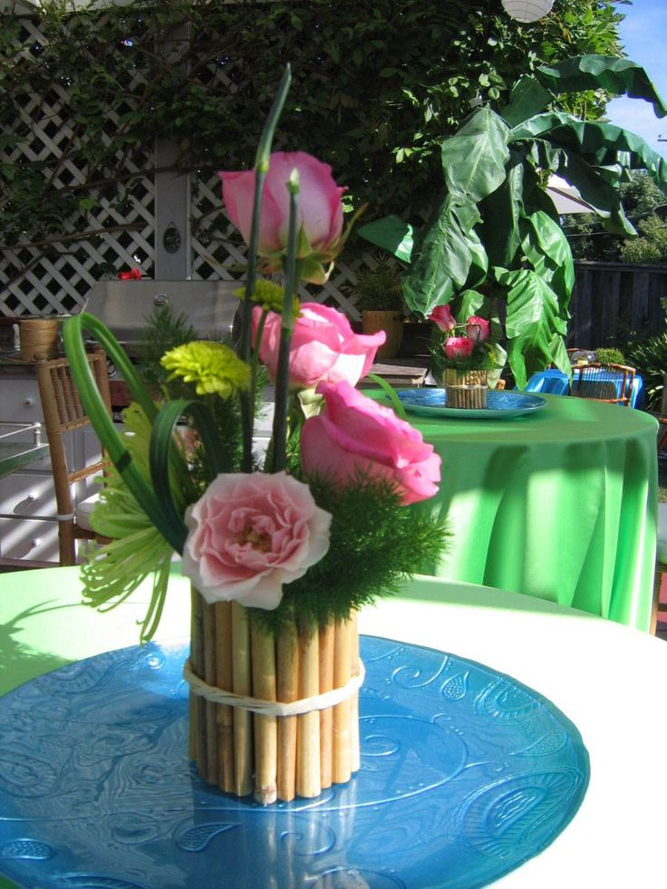 48 best images about hawaiian luau tiki theme party ideas for Hawaiin decorations