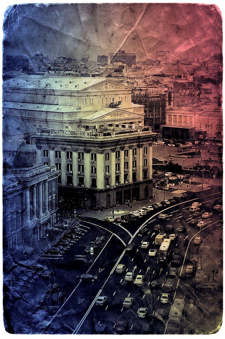 Москва. Охотный ряд ул.,вид на Большой театр. фото: Ирина Майсова