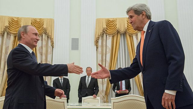 Путин и Керри не обсуждали тему СНВ.  Визит Джона Керри в Москву (37)   10:21 15.07.2016  http://ria.ru/politics/20160715/1466507401.html