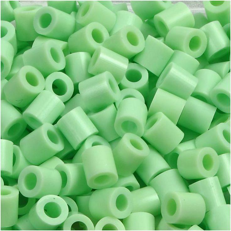 Perline da stirare 1100 pezzi colore verde pastello 17, perline a fusione Nabbi beads, pyssla