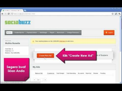 Video Tutorial For SociaBuzz Advertisers