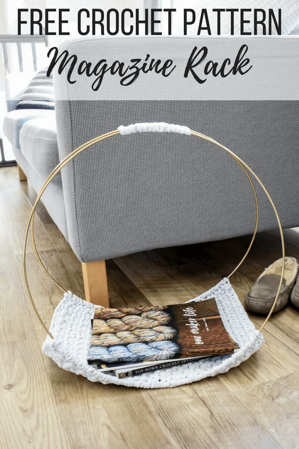 A free crochet pattern to make your own DIY magazine rack. Watch the quick video…