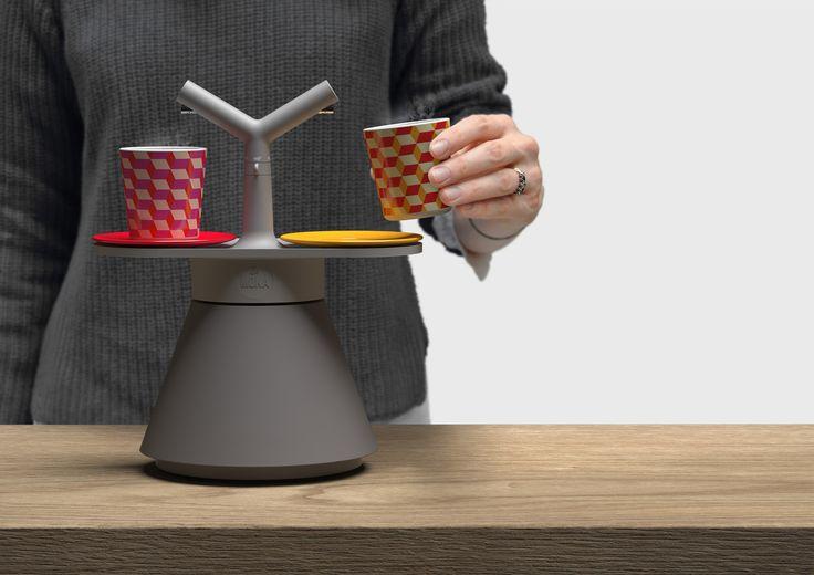 La MoKa Coffee Maker | In Use | Front View