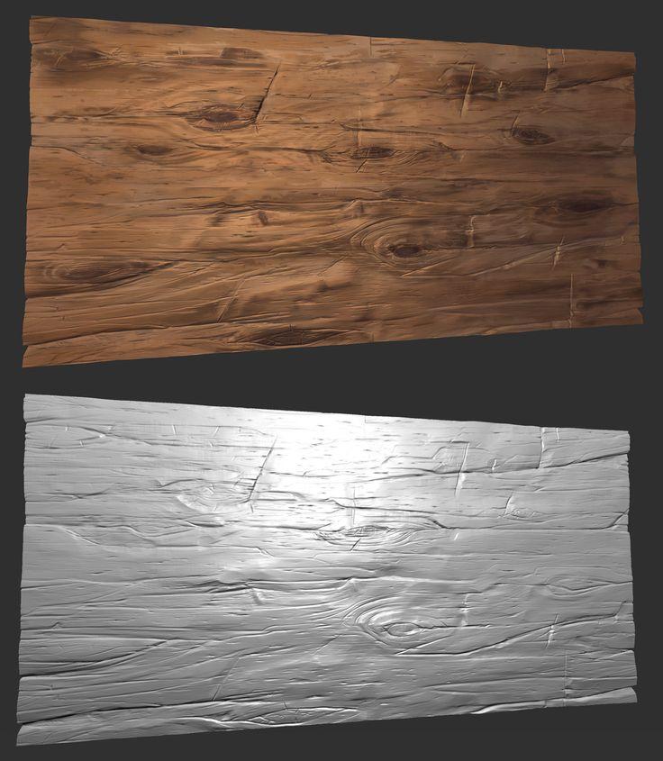 Stylized wood sculpt tiled texture - Zbrush, Hugo Beyer on ArtStation at https://www.artstation.com/artwork/stylized-wood-sculpt-tiled-texture-zbrush