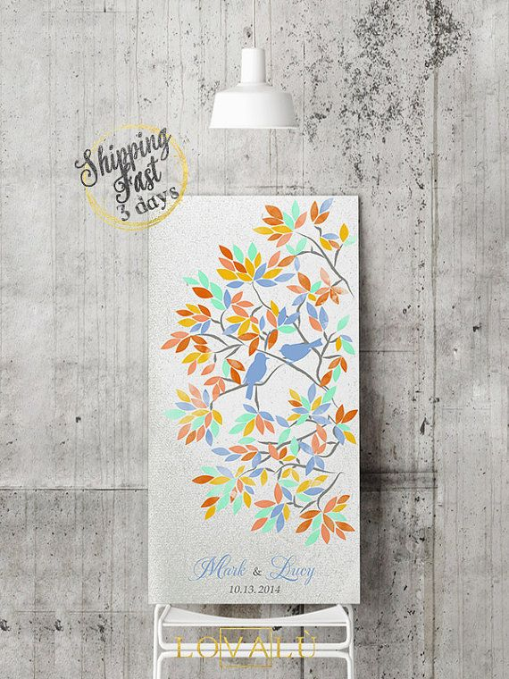 Wedding Guest Book | Guest Book Print | Wedding Wish Tree | Wedding Canvas | Wedding Sign Print | Guest Book Tree | Bridal Showers Gift