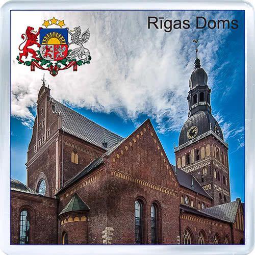 Acrylic Fridge Magnet: Latvia. Riga Cathedral