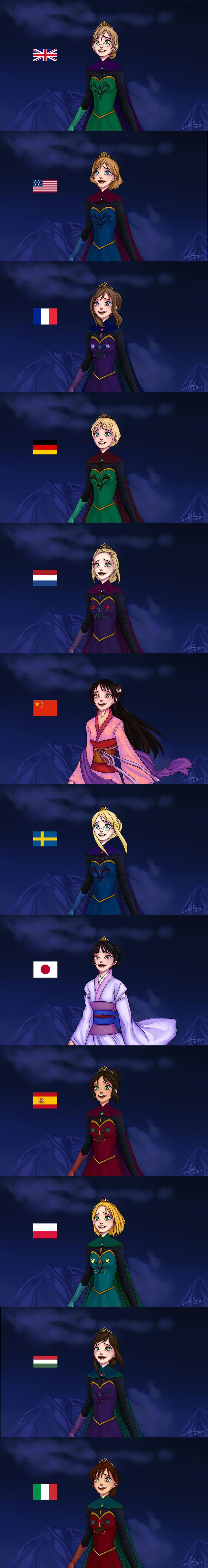 Let it Go <3 Elsa de diferentes etnias! Frozen pelo mundo! <3