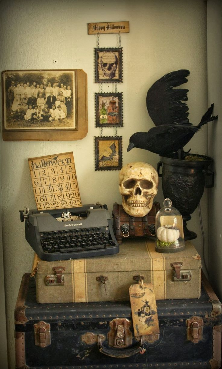 250 best HALLOWEEN images on Pinterest Bricolage, Halloween - Primitive Halloween Decor