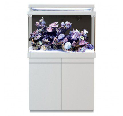 Red Sea MAX 400 S-Line Reef Aquarium System with Stand - Pearl White - 110 gal