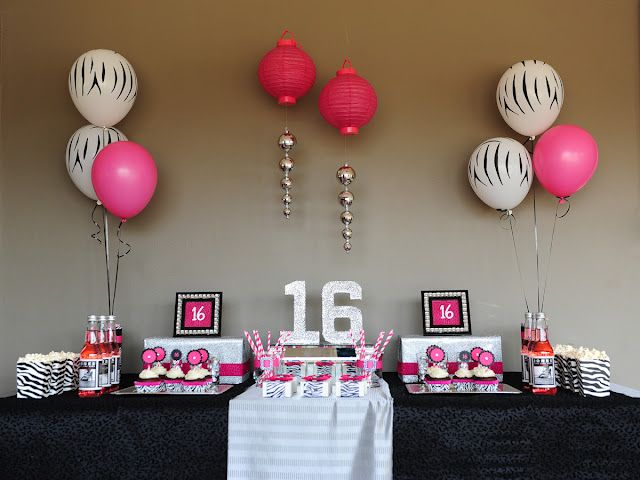 Sweet Sixteen Birthday Dessert table: Sweet 16, Sweet Sixteen Parties, Birthday Parties, Birthday Desserts Tables, Sixteen Birthday, Parties Ideas, Sweet16, 60 Birthday, Birthday Dessert Tables