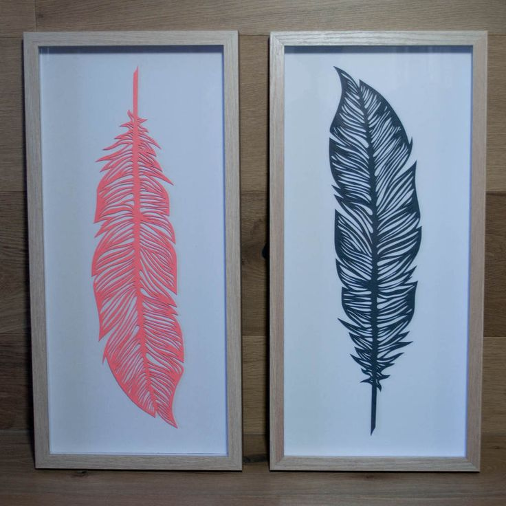 Our Papercut Feathers, are individually hand cut and framed. Available in varying colours, current range includes Grey, Teal and Coral. New colours coming soon.Colour: Coral PaperSize: 50cm x 23cm Framed