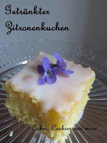 Getränkte Zitronenschnitten - ein Klassiker; Zitronenkuchen