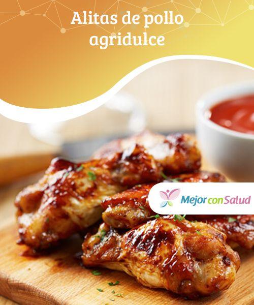 #Alitas de pollo #agridulce  Las alitas de pollo agridulce están simplemente… ¡irresistibles!; #tostaditas con una salsa que engancha y un olor que invita a comerlas. Además son tan fáciles de hacer que hasta un niño puede cocinarlas. #Recetas
