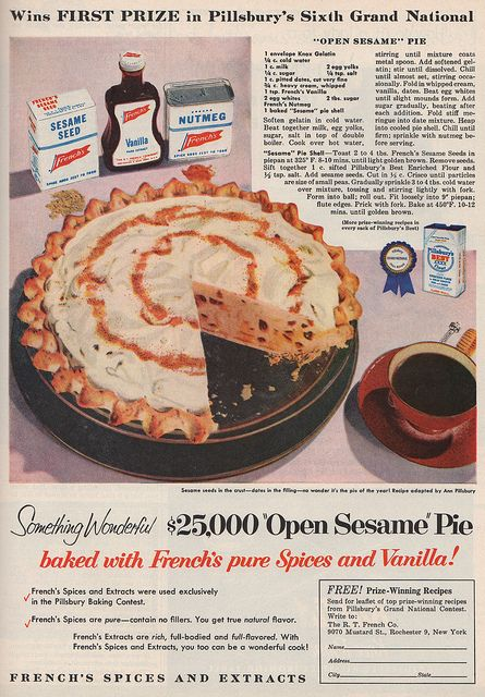 RECIPE: $ 25,000 winner of the 1955 Pillsbury 1955 Bake off