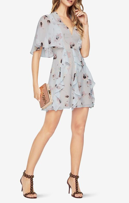 Mabel Floral-Print Dress BCBG